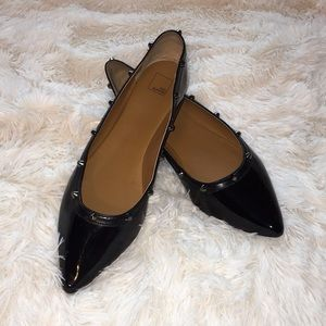 Patent Leather with stud flats